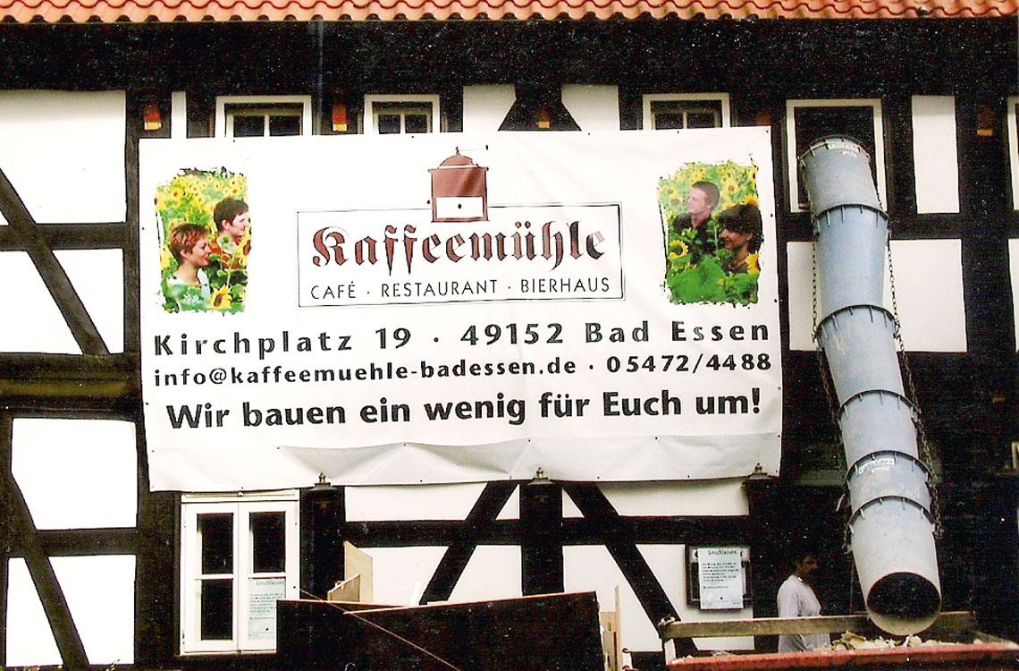Umbau-Plakat